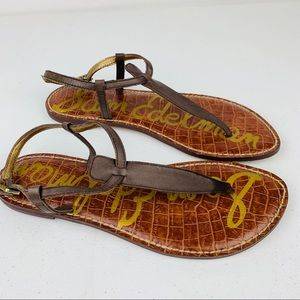 Sam Edelman T-Strap, Thong Sandals Women's Sz 7.5